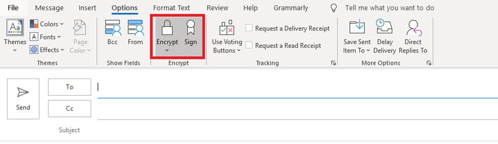 encrypted email sending