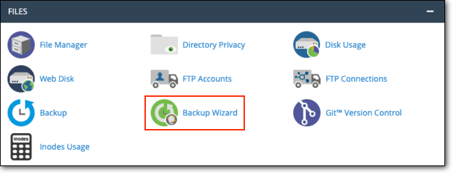 find-backup-wizard-in-cpanel